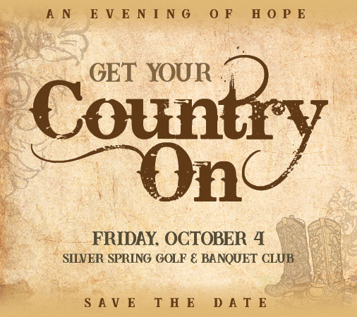 Fall Fundraiser poster Get Your Country On